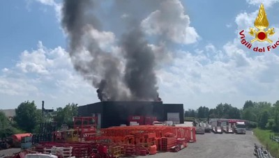 Incendio a Torre de' Roveri