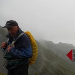 Sorpreso dal maltempo,venerdì l'addio al pensionato che tracciava i sentieri