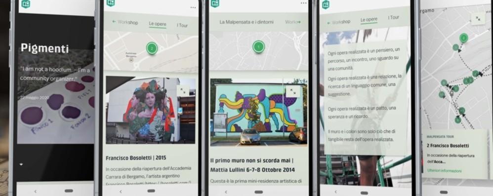 Sei anni di street art a Bergamo Scoprirli con la app di «Pigmenti»