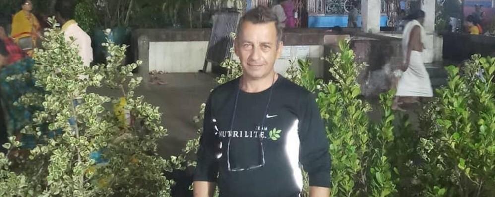 Siro, bloccato in India da marzo Il 58enne di Casnigo torna in Italia