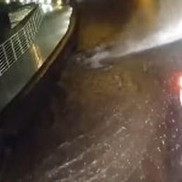 Strade allagate a Lovere e Costa Volpino Forti temporali nella tarda serata