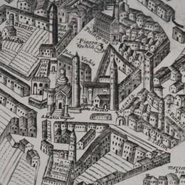 Una mappa di Bergamo del 1680 Storia di una Città Alta quasi «immutata»