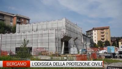 Ripartito il cantiere della Protezione Civile di Bergamo. Alla fine dell'anno il traslocco