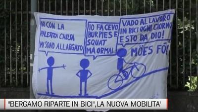 Bergamo riparte in bici. Prove generali di una nuova mobilità in città.