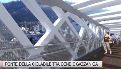 Cene-Gazzaniga, in primavera il nuovo ponte della pista ciclopedonale
