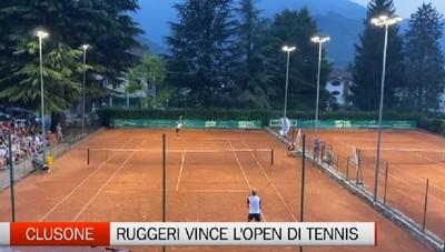 Clusone, Ruggeri vince l'open di tennis