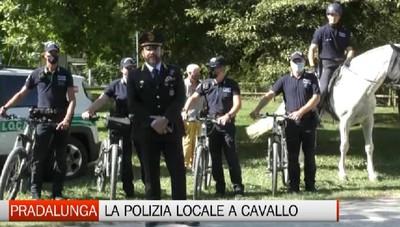 Pradalunga, Polizia Locale a cavallo e in bicicletta
