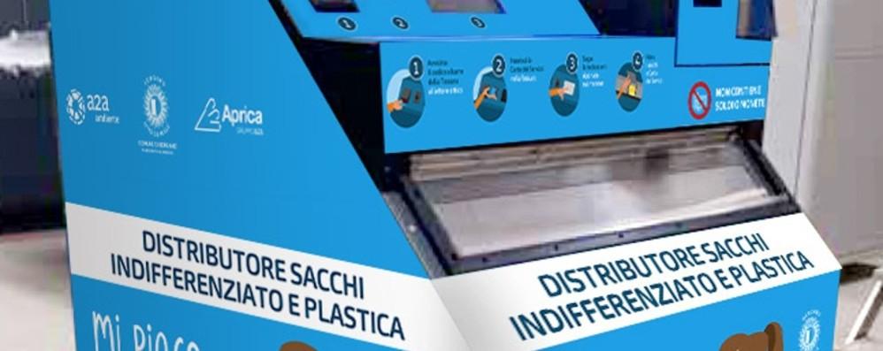 Sacchi per la raccolta differenziata Arrivano i distributori automatici