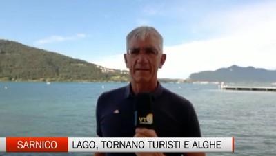 Sarnico, sul lago tornano i battelli, i turisti e le alghe