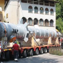 Segnali di ripresa: da Vertova alla Scozia un super trasporto da 122 tonnellate