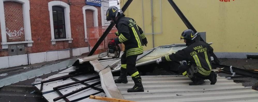 Allagamenti, alberi caduti, tetti divelti - Foto Oltre 100 interventi: più colpita la Bassa