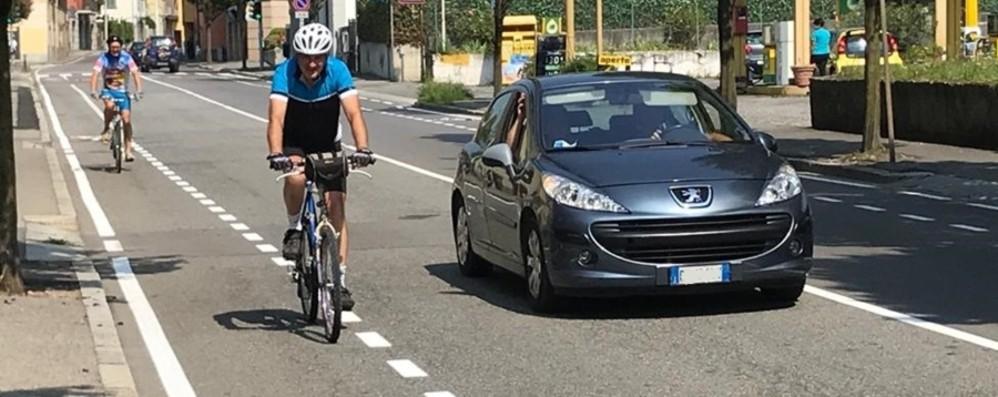 Bergamo, arrivano le corsie ciclabili in via Baioni e via Ruggeri da Stabello