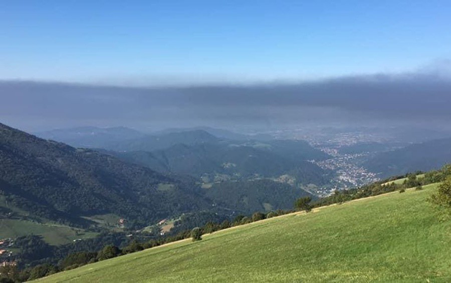 La nube di fumo dai Colli di San Fermo