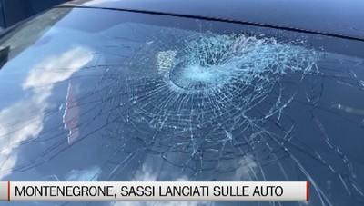 Montenegrone, sassi lanciati sulle auto in transito