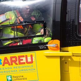 Telgate, 49enne  cade in azienda Ferito al torace: soccorso in elicottero