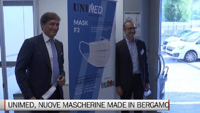 Unimed, le nuove mascherine made in Bergamo di Unigasket