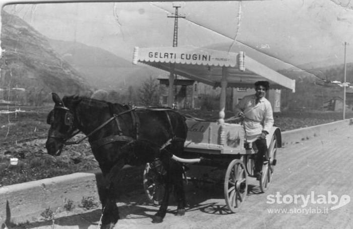 Il gelataio Emilio Cugini di Vall'Alta