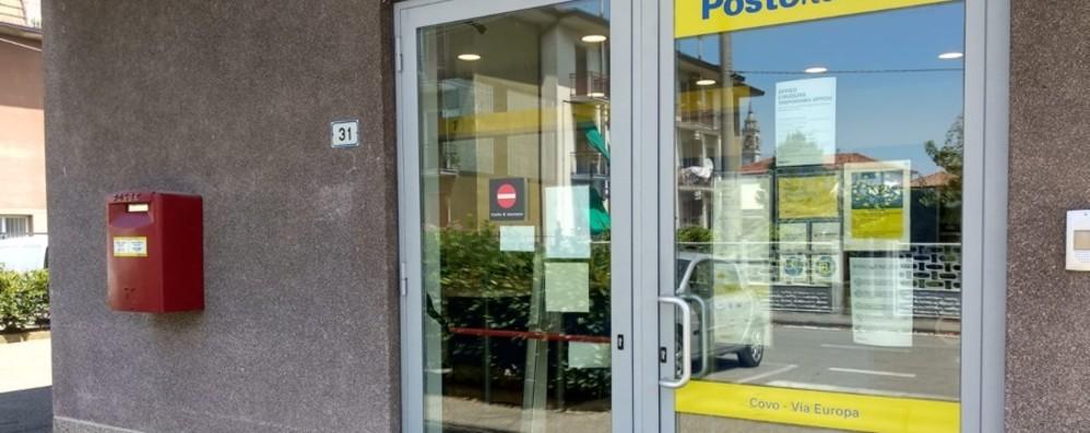 Bandito solitario in azione a Covo Rapinate le poste: 400 euro il bottino