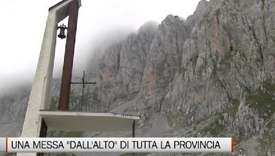 Domenica a mezzogiorno la Santa Messa in diretta dalla Presolana