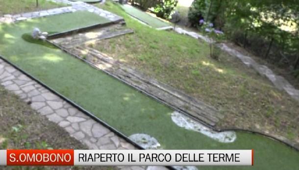Aperto il parco delle Terme. Sant'Omobono lancia un progetto sociale unico