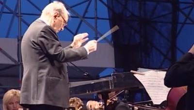 Il concerto di Ennio Morricone a Bergamo nel 2009