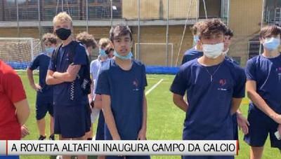Rovetta, Josè Altafini all'inaugurazione del campo da calcio in erba sintetica
