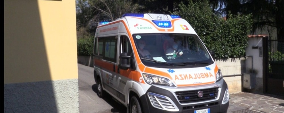 Trescore, paura per un bimbo di 11 anni  caduto dalla bicicletta e soccorso