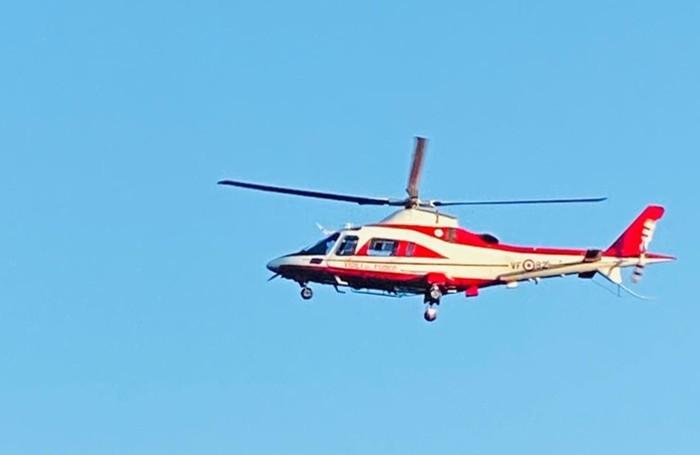 Drago 82, l'elicottero dei Vigili del Fuoco di varese