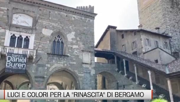 Arte - Le luci e i colori di Daniel Buren per la «rinascita» di Bergamo