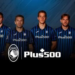 Atalanta, Plus 500 sarà main sponsor per le prossime tre stagioni sportive