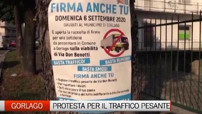Gorlago, raccolta firme contro il traffico pesante in paese