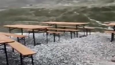 Grandine al Rifugio Albani - 1