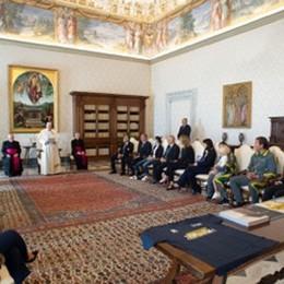 I vertici del Papa Giovanni in Vaticano «Ospedale in prima linea contro il Covid»