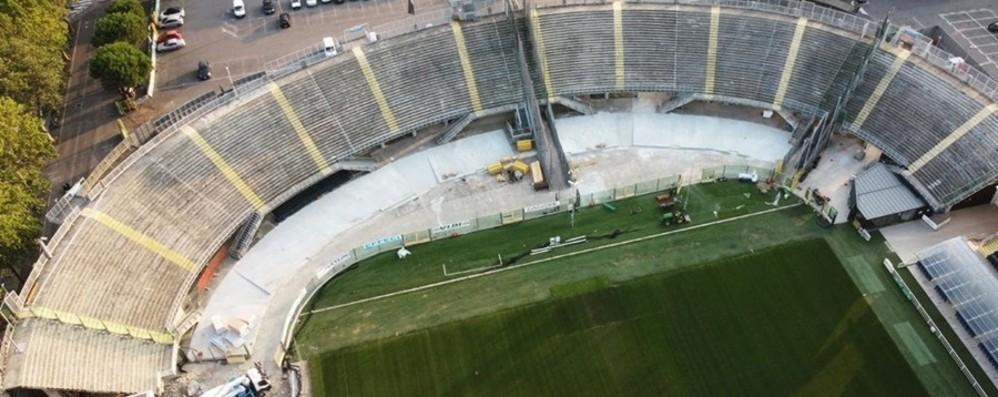 Stadio di Bergamo, avanti con il cantiere Lavori alla curva Morosini, in ottica Champions