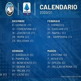 Atalanta, debutto il 27 settembre col Toro Serie A: il 16 dicembre la sfida con la Juve