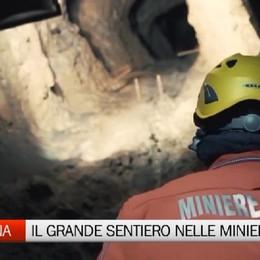 Il Grande Sentiero a Dossena Proiezione nelle miniere di fluorite