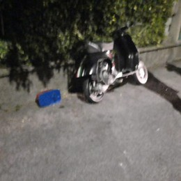 Sbanda in scooter e finisce a terra Barzana, 43enne in gravi condizioni
