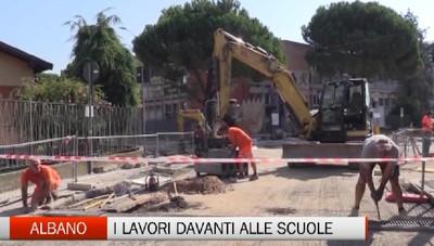 Albano Sant'Alessandro, lavori alle strade davanti alle scuole