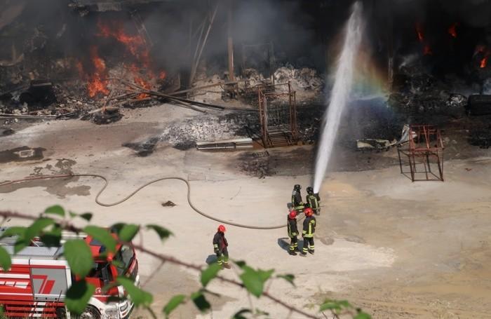 Le operazioni dei vigili del fuoco