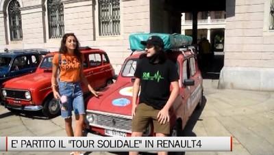 Bergamo, partito il tour solidale per l'Italia con la Renault 4