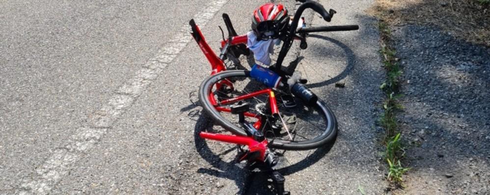 Lenna, investito un ciclista Grave 54enne di Lecco