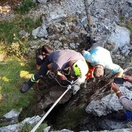 Cade in una buca a sei metri di profondità Roncola, salvato il cane setter Billy - Foto