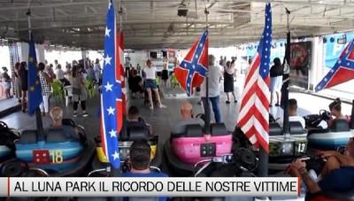 Covid, il luna park ricorda le vittime e ringrazia Bergamo