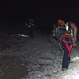Due escursionisti bloccati sul pizzo Arera Intervento notturno per portarli a valle