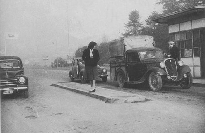 Casello autostrada Milano Bergamo negli anni '50