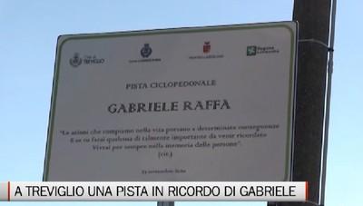Treviglio, inaugurata la pista ciclopedonale in ricordo di Gabriele Raffa