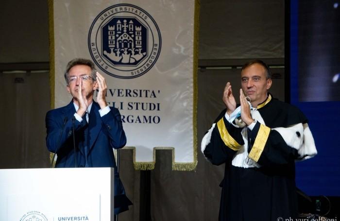 Il ministro Gaetano Manfredi e il rettore Remo Morzenti Pellegrini