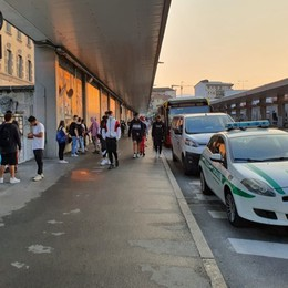 Bergamo, bus e sottopasso stazione Primo giorno, test senza intoppi- Foto