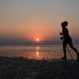 «Con gli sci in spiaggia...»