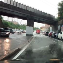 La pioggia è arrivata sulla Bergamasca Il maltempo durerà fino a venerdì